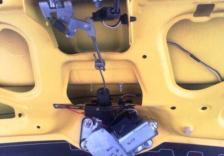 Электропривод крышки багажника своими руками